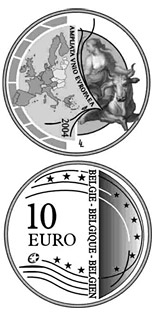 10 euro coin Enlargement of the European Union | Belgium 2004
