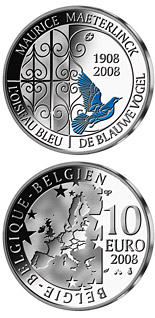 10  coin 100 years The blue bird - colored | Belgium 2008