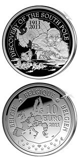 10 euro coin Discovery of the South Pole | Belgium 2011