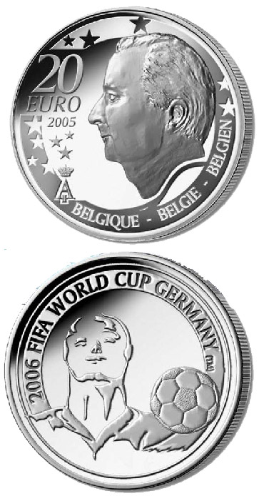 Image of a coin 20 euro | Belgium | FIFA Football World Cup 2006 in Germany  | 2005