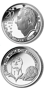 20 euro coin FIFA Football World Cup 2006 in Germany  | Belgium 2005