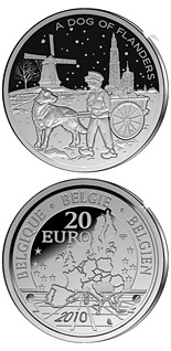 20 euro coin A Dog of Flanders  | Belgium 2010