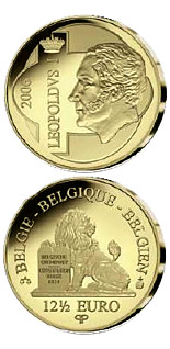 Image of 12.5 euro coin - Leopold I. | Belgium 2006.  The Gold coin is of Proof quality.