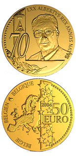 50 euro coin 70. birthday of Albert II. | Belgium 2004