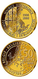 Image of a coin 50 euro | Belgium | The blue bird | 2008