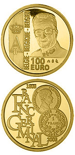 100 euro 200 years French franc - Franc Germinal - 2003 - Series: Gold 100 euro coins - Belgium