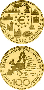 100 euro coin Enlargement of the European Union | Belgium 2004