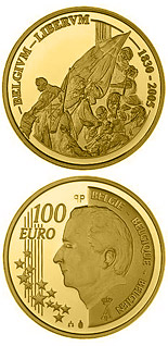 100 euro coin 175 years Independence | Belgium 2005