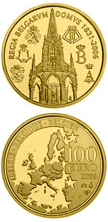 100 euro coin 175 years Dynasty | Belgium 2006