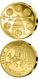 100 euro 175 years Coinage - 2007 - Series: Gold 100 euro coins - Belgium