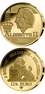 12.5 euro coin King Albert II. | Belgium 2011