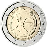 2 euro coin 10th Anniversary of the Introduction of the Euro | Belgium 2009