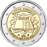 2 euro coin 50th Anniversary of the Treaty of Rome | Belgium 2007