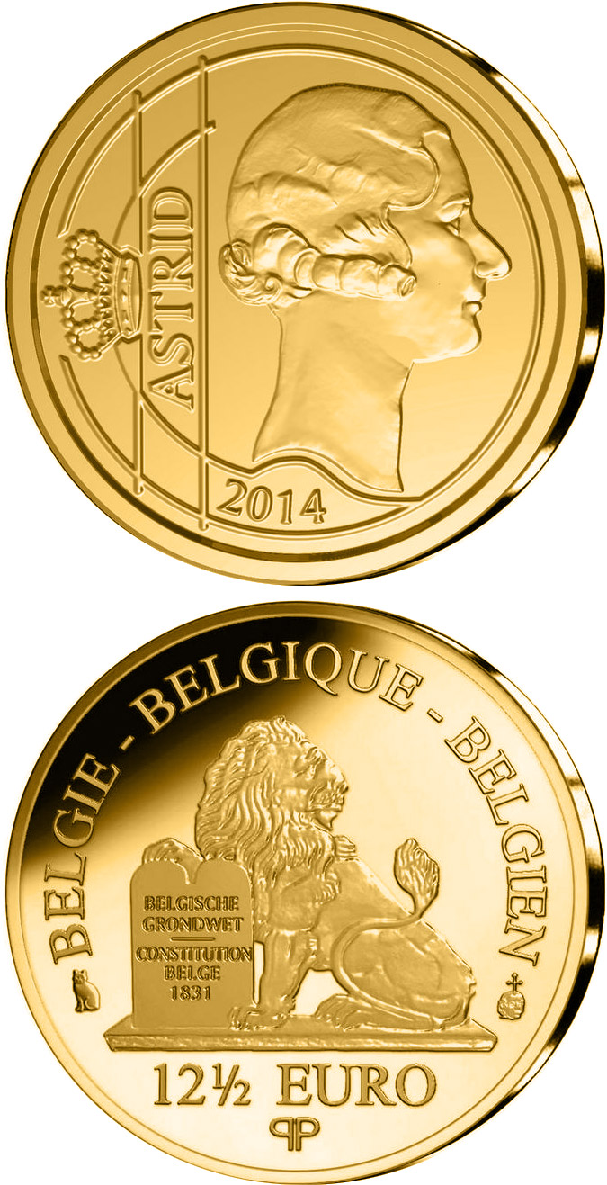 12.5 euro Astrid Sofia Lovisa Thyra of Sweden  - 2014 - Series: Queens of the Belgians - Belgium
