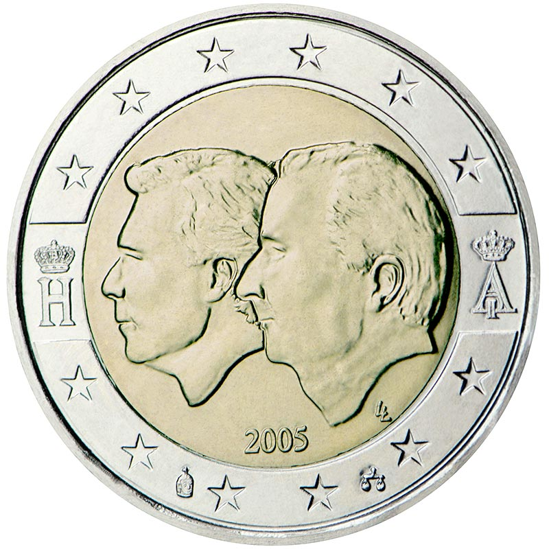 Image of 2 euro coin – Belgium-Luxembourg Economic Union | Belgium 2005