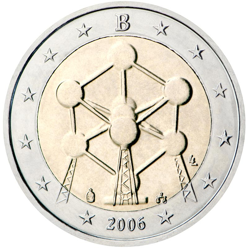 Image of 2 euro coin Renovation of the Atomium in Brussels | Belgium 2006