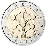 2 euro coin Renovation of the Atomium in Brussels | Belgium 2006