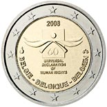 2 euro coin 60th anniversary of the Universal Declaration of Human Rights | Belgium 2008