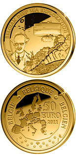50 euro coin Belgian Deep Sea Exploration | Belgium 2011