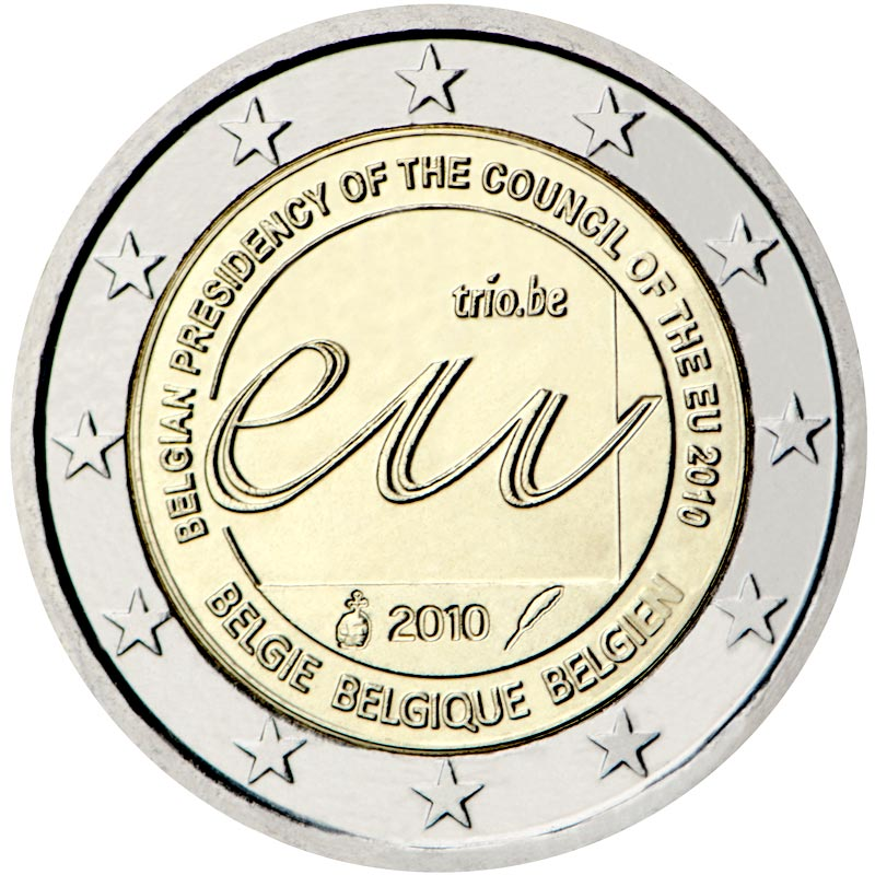 Image of 2 euro coin Belgian Presidency of the Council of the European Union in 2010  | Belgium 2010