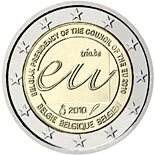 2 euro coin Belgian Presidency of the Council of the European Union in 2010  | Belgium 2010