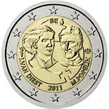 2 euro coin 100th anniversary of International Women's Day  | Belgium 2011