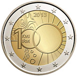 2 euro 100 years of the Royal Meteorological Institute - 2013 - Series: Commemorative 2 euro coins - Belgium