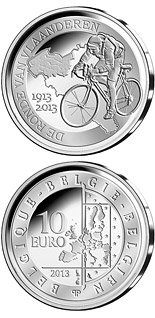 10 euro 100 years of the Tour of Flanders - 2013 - Series: Silver 10 euro coins - Belgium