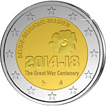 2 euro coin 100 Years After the Beginning of the First World War | Belgium 2014