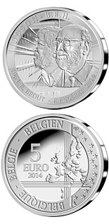 5 euro coin The Higgs boson | Belgium 2014