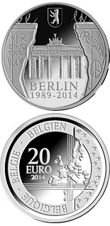 20 euro 25th Anniversary of the Fall of the Berlin Wall - 2014 - Series: Silver 20 euro coins - Belgium