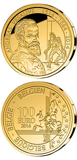 100 euro coin 500th Anniversary of the Birth of Andreas Vesalius | Belgium 2014