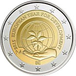 2 euro coin The European Year for Development | Belgium 2015