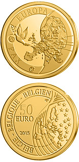 50 euro coin 70 years of Peace in Europe | Belgium 2015