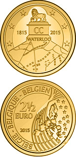 2.5 euro coin 200th Anniversary of the Battle of Waterloo | Belgium 2015