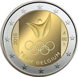 Image of 2 euro coin - Olympic Games - Rio 2016 | Belgium 2016