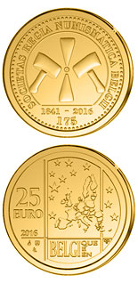 25 euro coin 175 years of Royal Numismatic Society of Belgium | Belgium 2016
