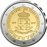 2 euro coin 200 Years Liege University  | Belgium 2017