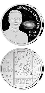 5 euro 50th Anniversary of the Death of Georges Lemaître - 2016 - Series: Silver 5 euro coins - Belgium