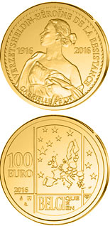 100 euro 100th Anniversary of the Execution of Gabrielle Petit - 2016 - Series: Gold 100 euro coins - Belgium