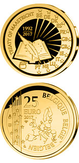 25 euro 25 years Maastricht contract - 2017 - Series: Gold 25 euro coins - Belgium