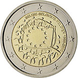 2 euro coin The 30th anniversary of the EU flag | Belgium 2015