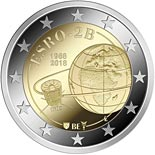 2 euro coin 50 years ESRO-2B | Belgium 2018