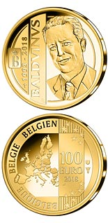 100 euro coin 25 years of death King Baudouin | Belgium 2018