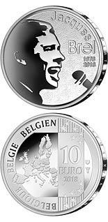 10 euro coin 40 years of death Jacques Brel | Belgium 2018
