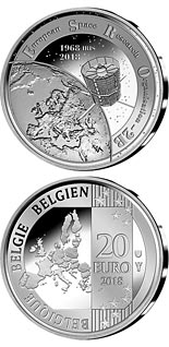 20 euro coin 50 years ESRO-2B | Belgium 2018
