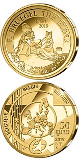 50 euro coin 450th Anniversary of the Death of Pieter Bruegel the Elder | Belgium 2019
