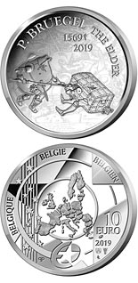 10  coin 450th Anniversary of the Death of Pieter Bruegel the Elder | Belgium 2019