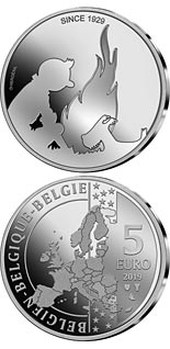 5 euro coin 90 Years of the Adventures of Tintin | Belgium 2019
