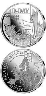 5 euro coin 75th Anniversary of the D-Day | Belgium 2018